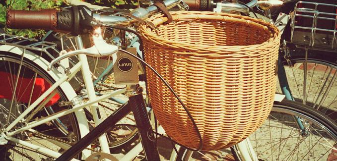 Mit dem Fahrrad unterwegs - Korb