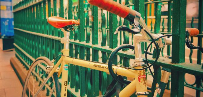 Mit dem Fahrrad unterwegs - Schloss
