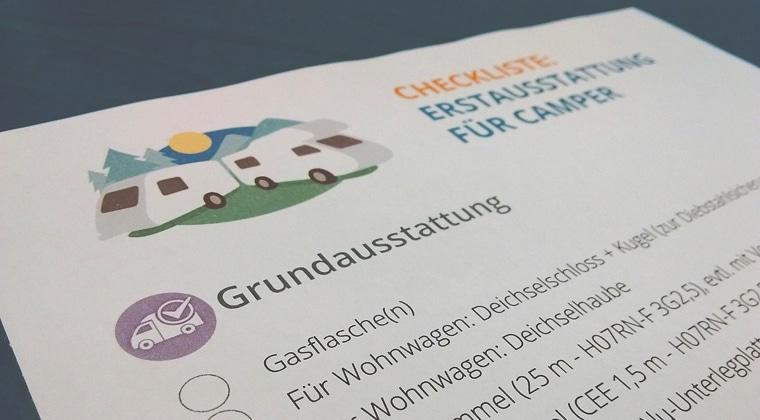 Checkliste: Erstausstattung Für Wohnwagen & Reisemobile