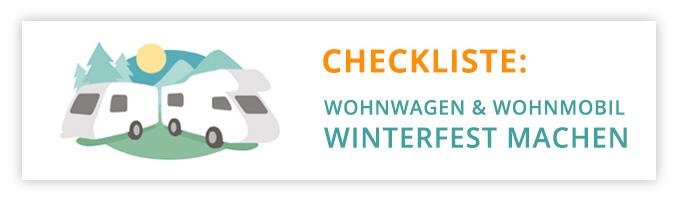 Checkliste Wohnwagen und Wohnmobil winterfest machen