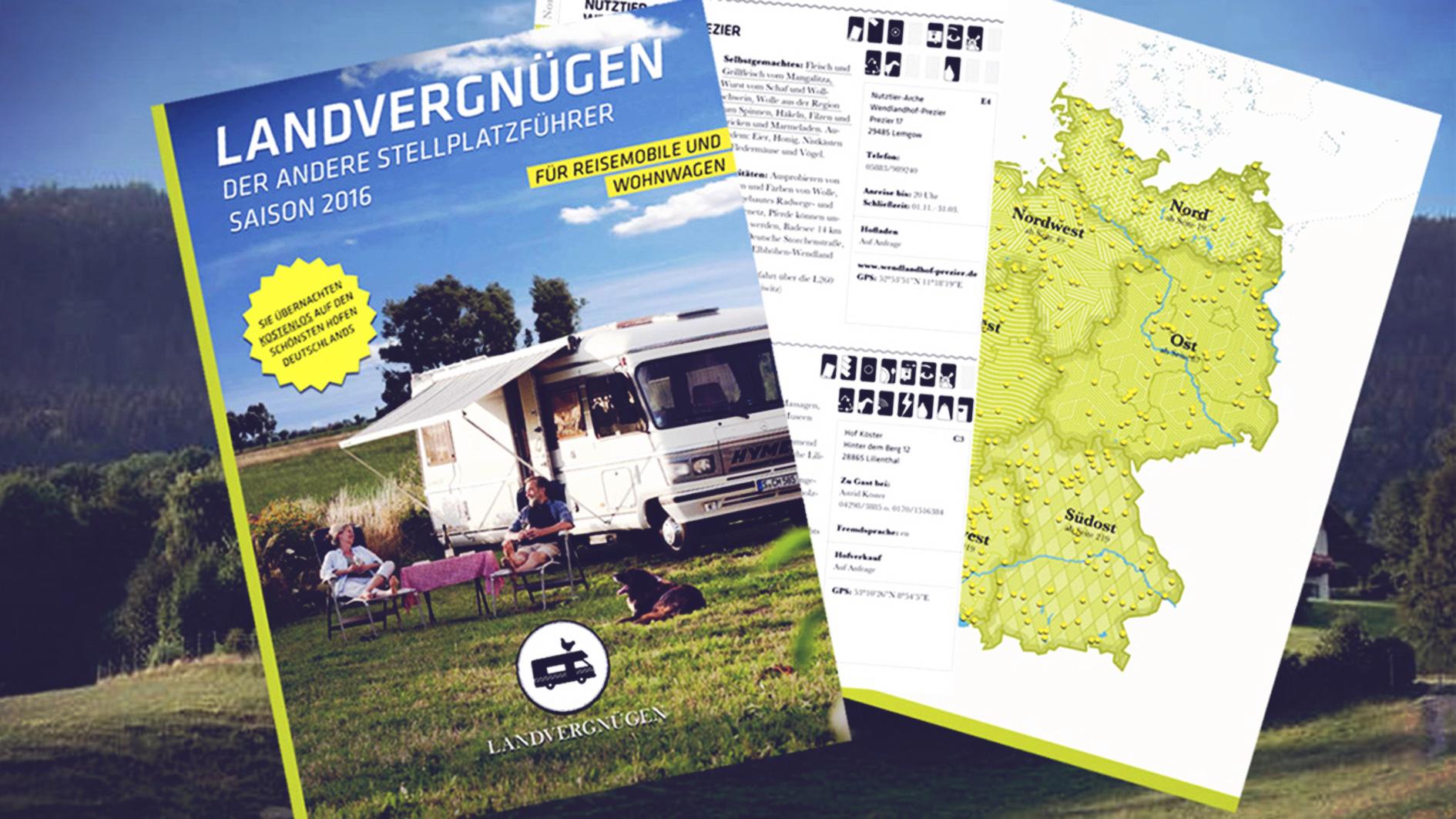 Verlosung: Gewinnt 5 Landvergnügen-Stellplatzführer!