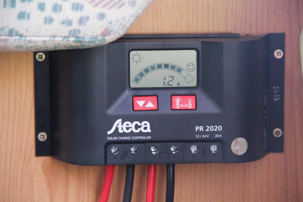 Unser Solar Laderegler im Wohnmobil liefert den ersten Strom