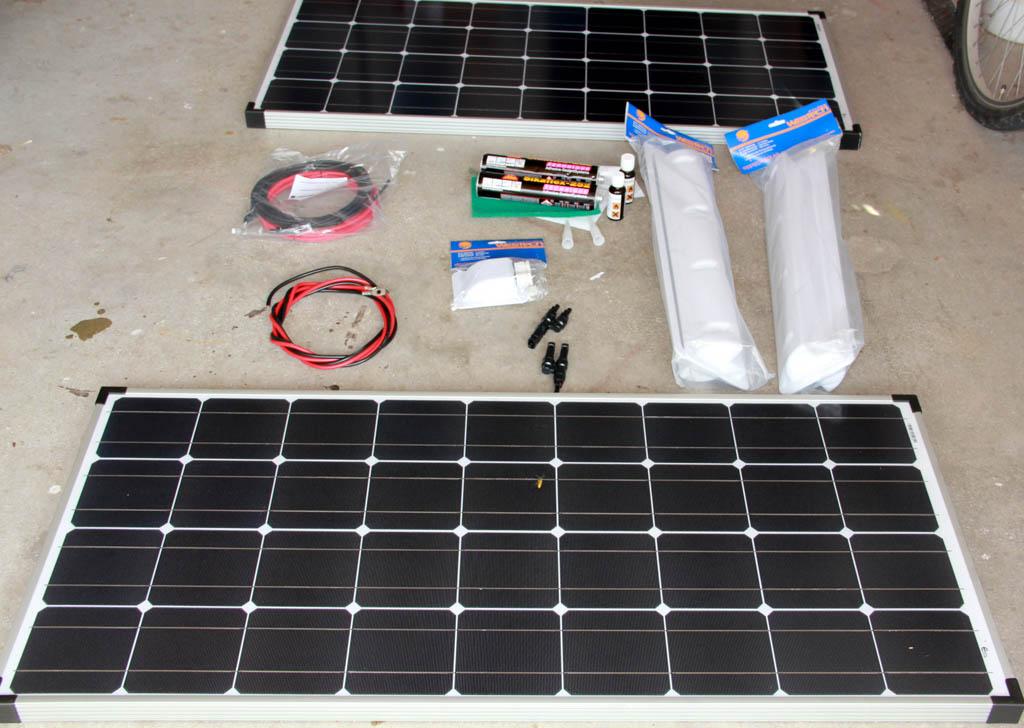 Solaranlage Wohnmobil – alle Teile sind da