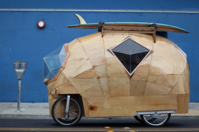 bike camper die sch nsten mini mobile homes f r. Black Bedroom Furniture Sets. Home Design Ideas