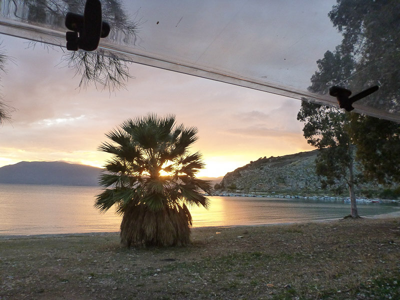 Sonnenuntergang auf dem Peloponnes