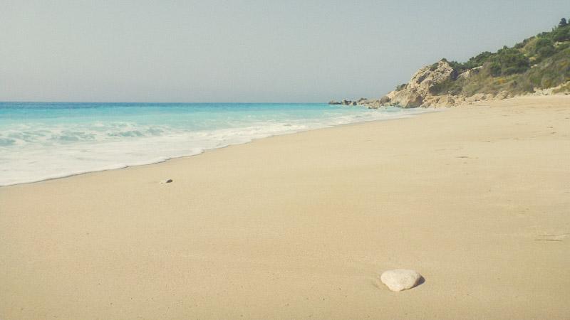 Strand Megali Petra, Griechenland