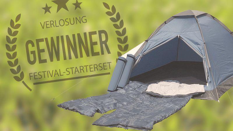 Verlosung Festival-Set Zelt Schlafsack Isomatten Frankana