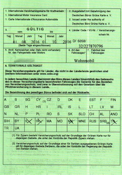 Wohnmobil Versicherung Im Ausland Alle Infos Unfall Checkliste