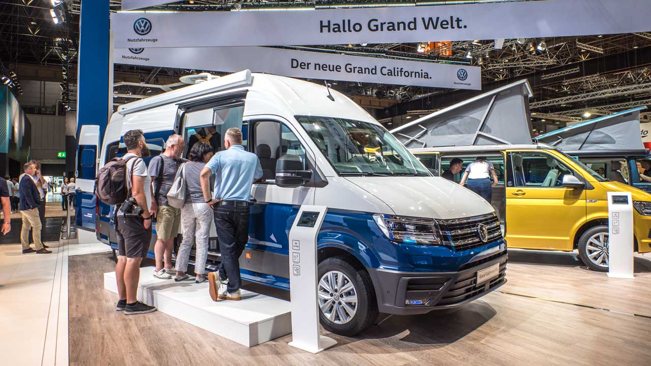 VW Grand California auf Crafter beim Caravan Salon 2018 Düsseldorf