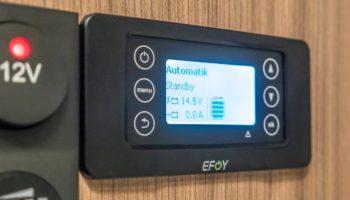 EFOY COMFORT Brennstoffzelle Bedienpanel schwarz