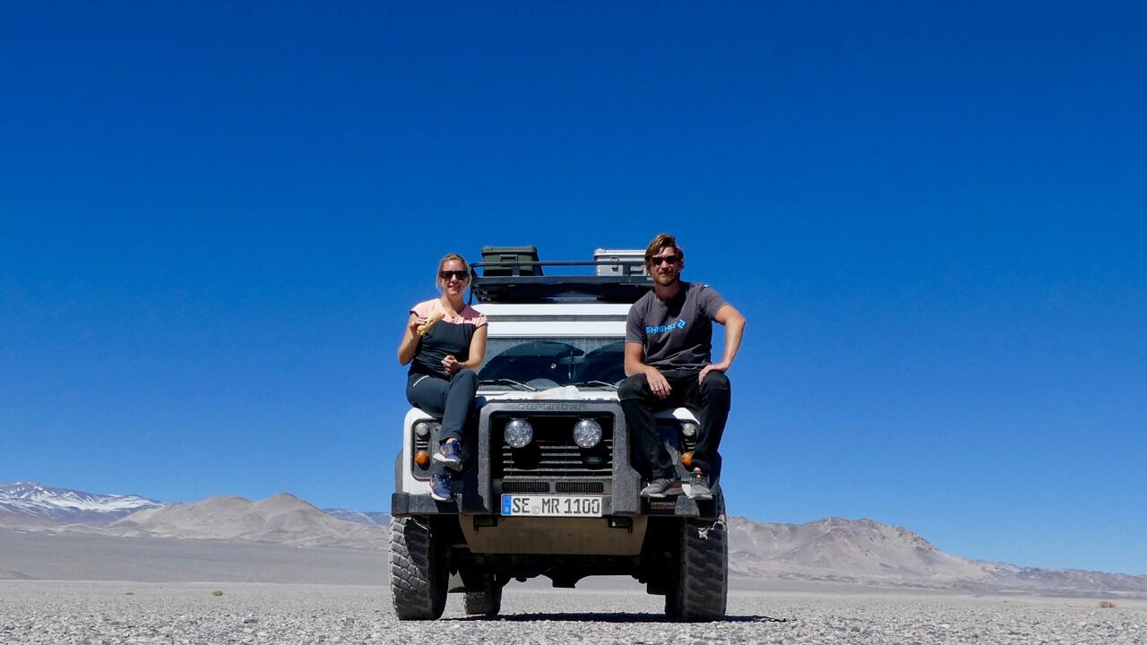 Ali und Malte mit Dulli in Südamerika