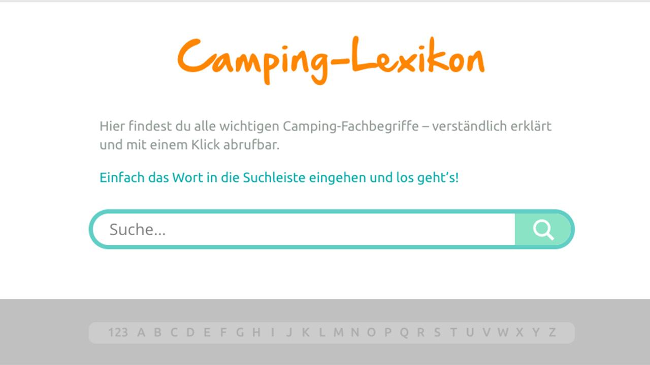 Camping-Lexikon Für Anfänger Geht An Den Start