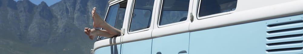 VW-Bus, Zelt oder Wohnmobil - nur du entscheidest, wie du deinen Urlaub verbringen willst!