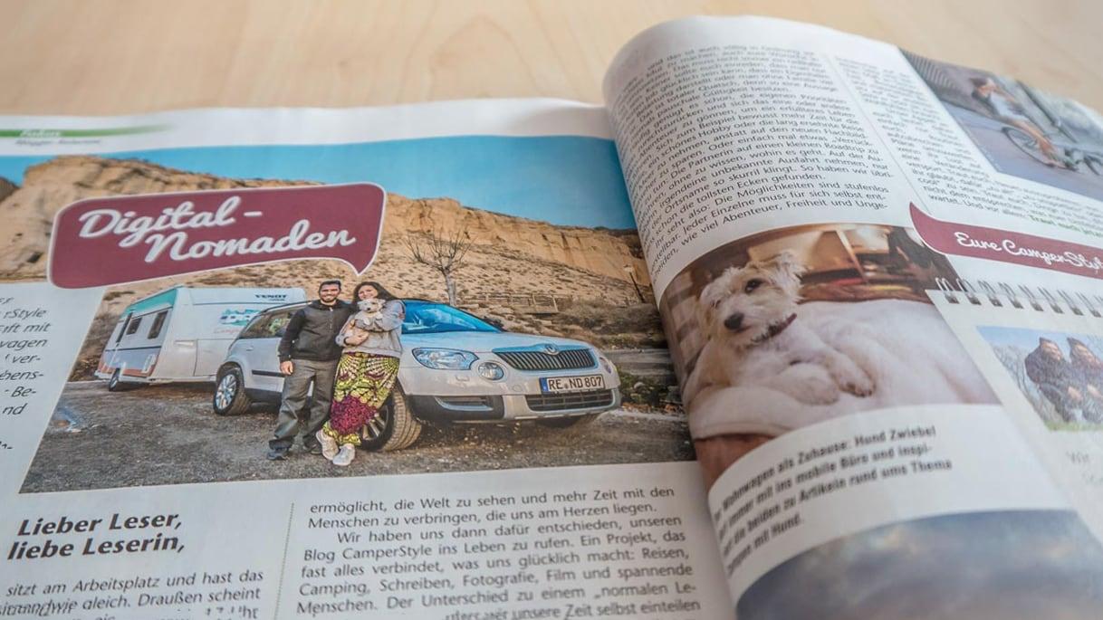 Ab sofort gibt es eine eigene CamperStyle-Kolumne im Magazin Camping, Cars & Caravans