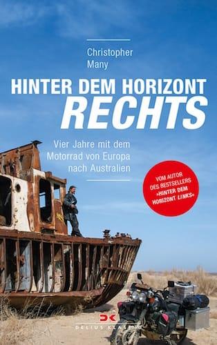Das Cover vom Buch fuer Roadtrip Fans mit dem Namen Hinter dem Horizont rechts