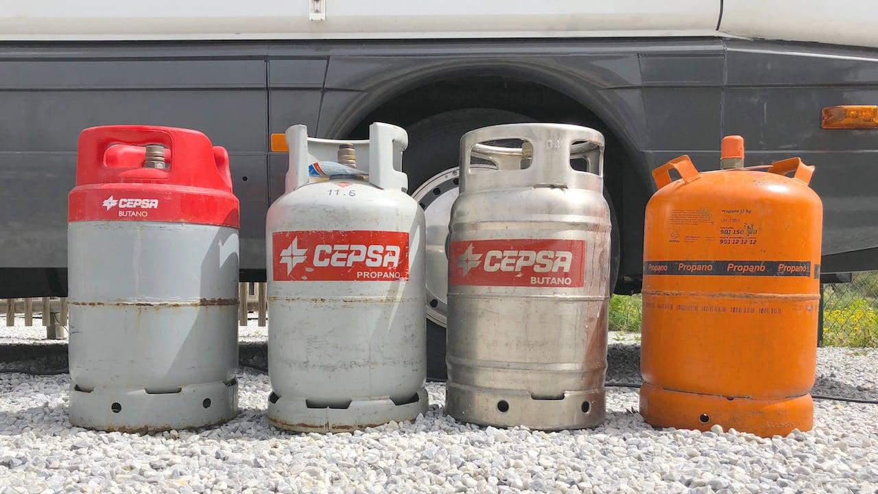 Gasflaschen in Spanien