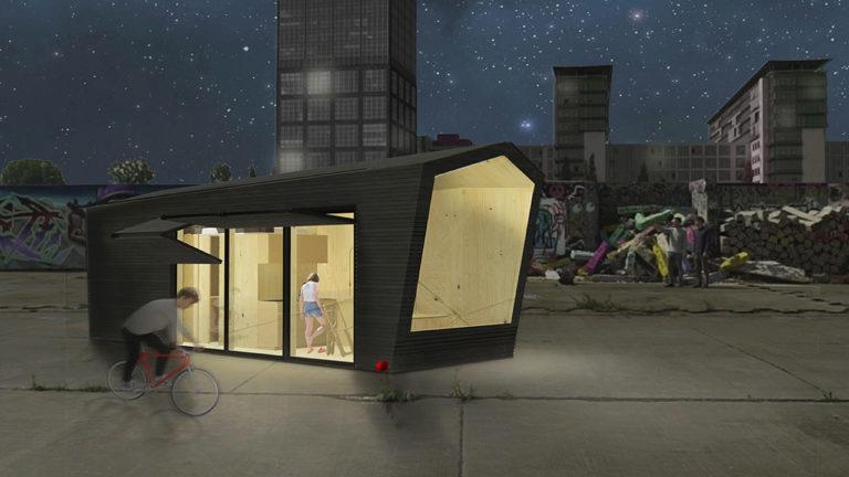 Cabin Spacy: Ein Tiny House über Den Dächern Der Stadt