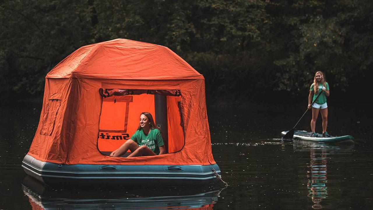Campingwiese War Gestern: Zelten Auf Dem Wasser Im Shoal Tent