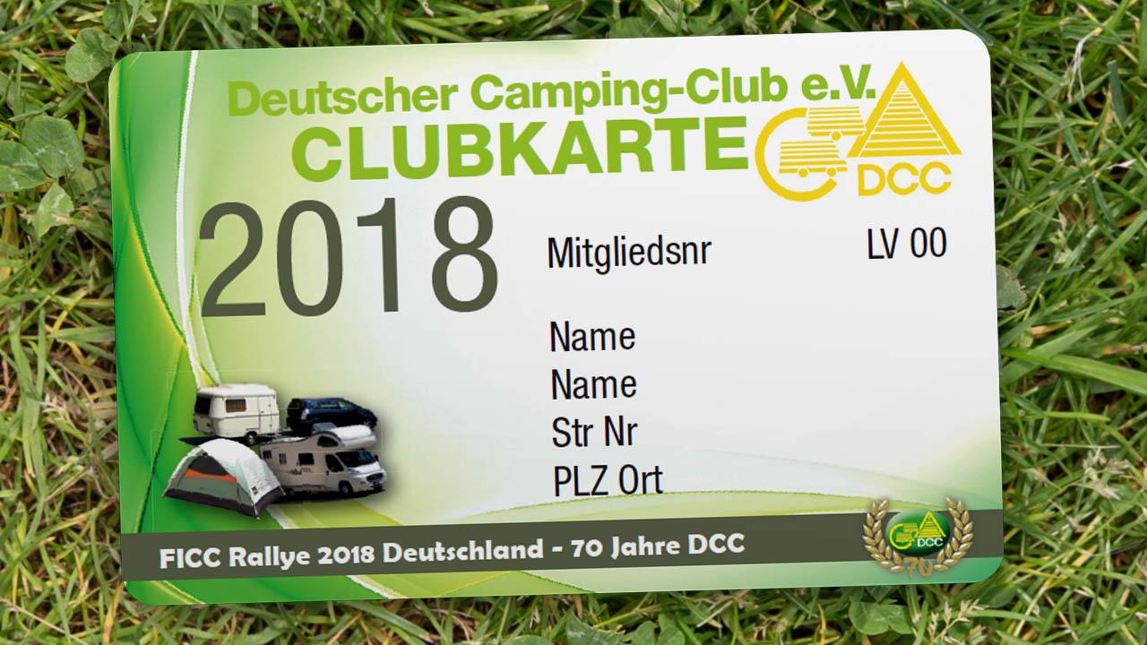 Die Mitglieds- und Rabattkarte des DCC