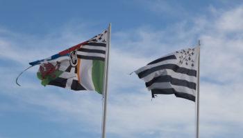 Breizh die Flagge der Bretagne in Frankreich