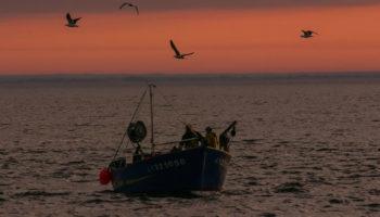Ein Fischerboot in der Bretagne