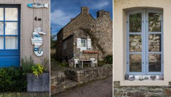 Ein Granithaus und die kleinen Details am Wegesrand der Bretagne