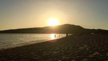Sonnenuntergang an einem Strand in Andalusien (c) Hendrike Michel