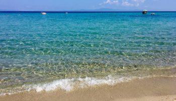 Klares Wasser am Camping Reiseziel Griechenland