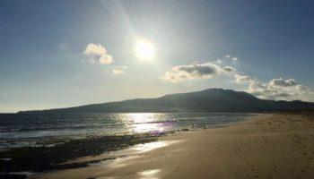 Blick auf den weiten Strand im Camping Reiseziel Andalusien () Hendrike Michel