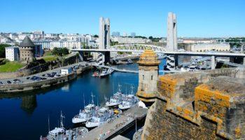 Moderne Hafenstadt Brest Spielpunkt eines Bretagne Krimis von Viel Foto: Yannick Le Gal