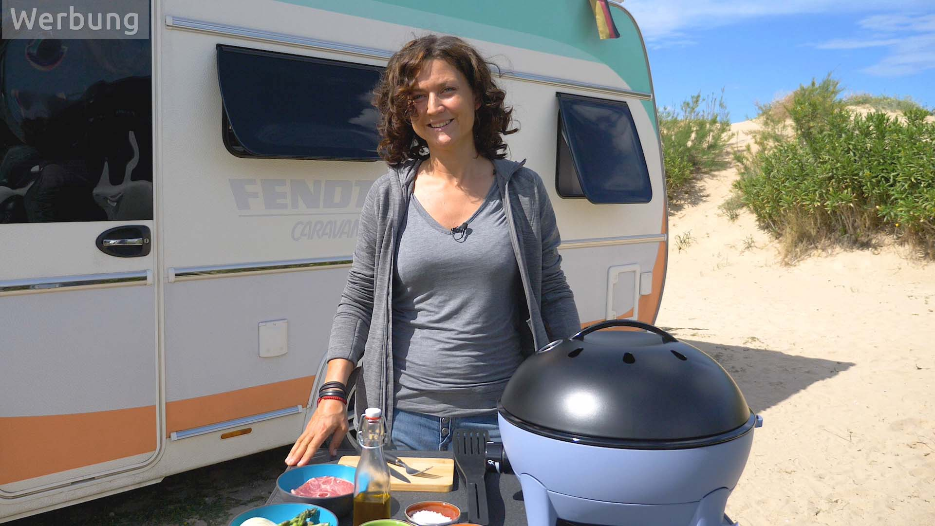 Camping-Rezepte: Lammkoteletts mit grünem Spargel vom Citi Chef 40