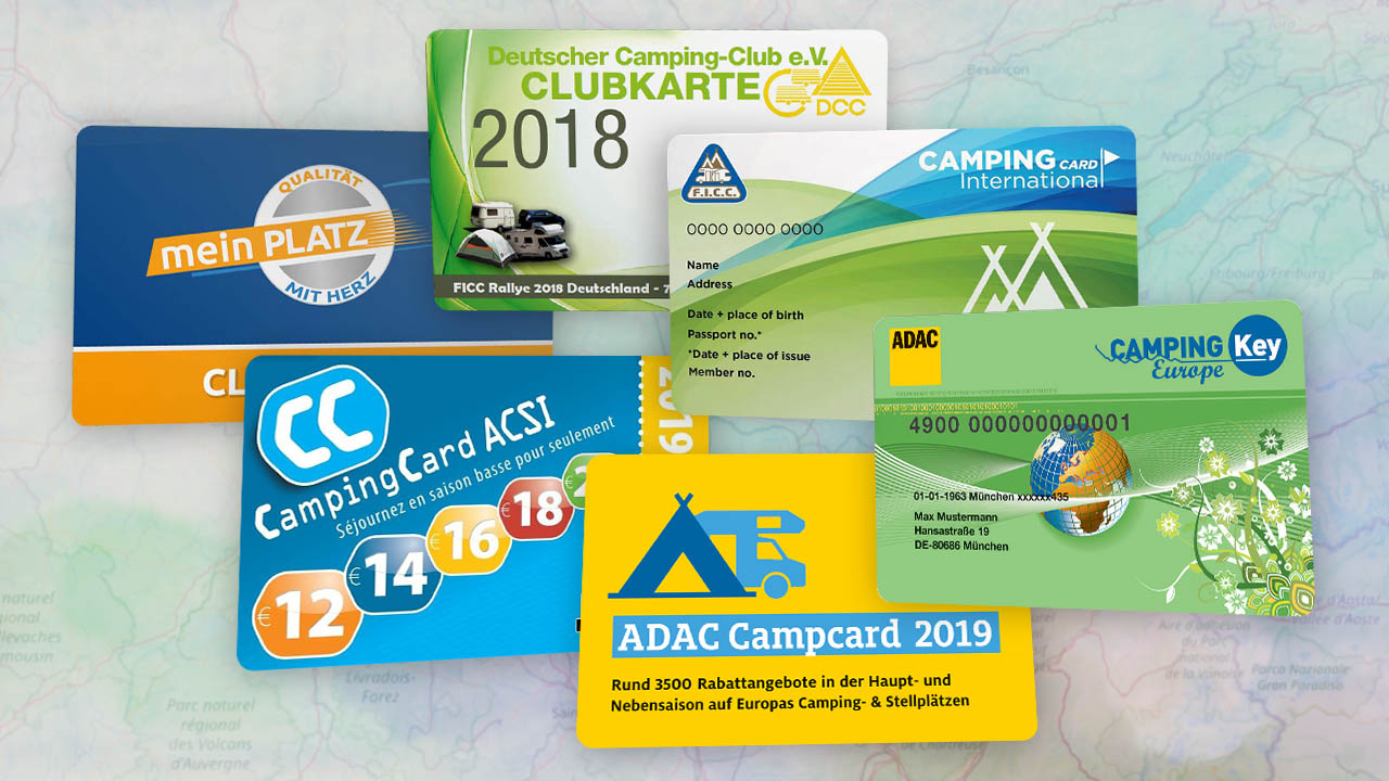 Rabattkarten für Camper
