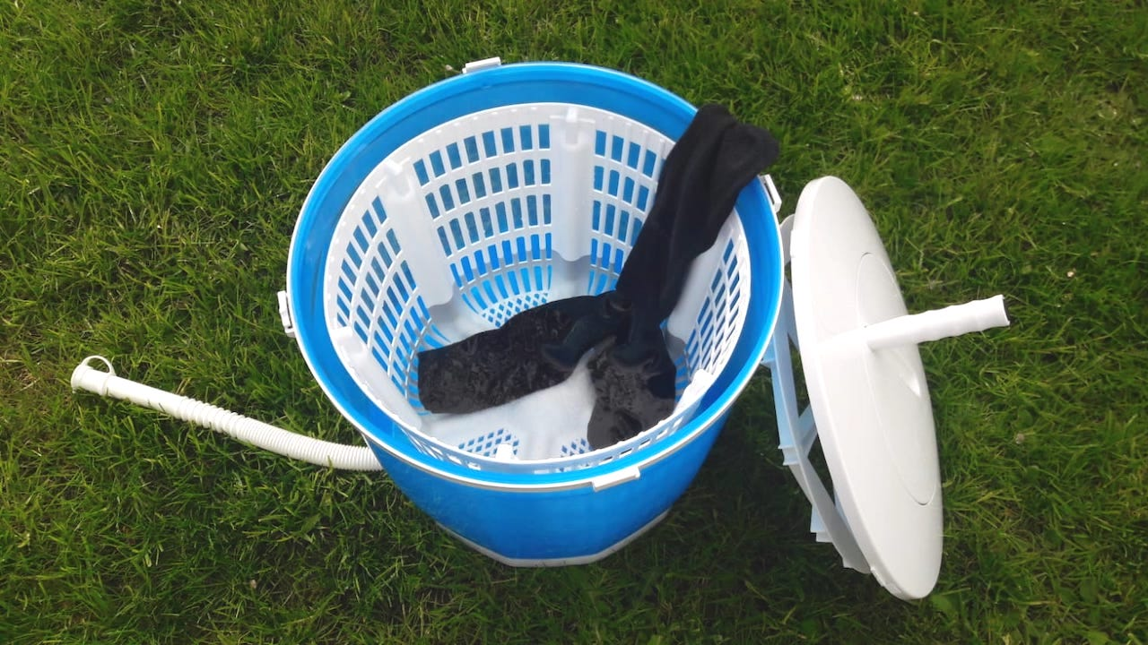 Camping-Waschmaschinen - Möglichkeiten und Alternativen