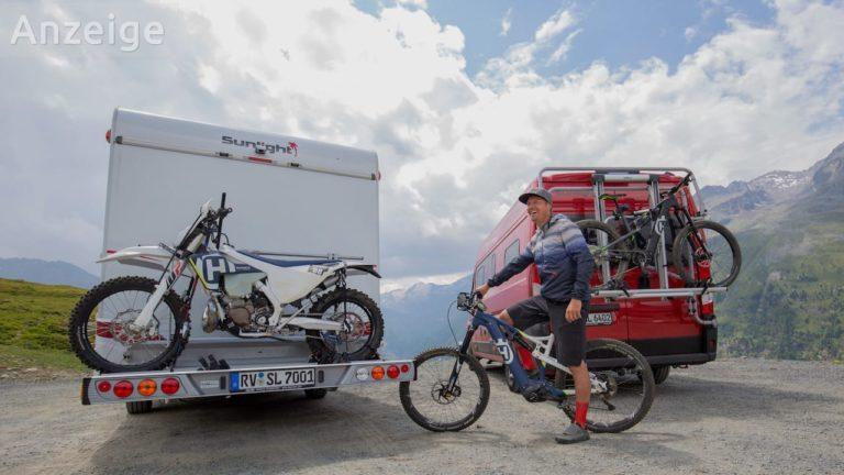 Fahrradträger und Motorradträger für Wohnmobil oder Kastenwagen