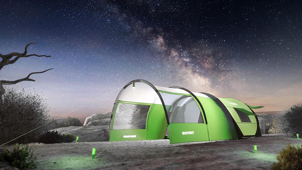 Das Cinch! Pop Up Tent unter Sternen