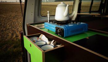 Camper Ausbau Modul von Fluchtfahrzeug