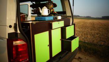 Camperausbau mit dem Modul von Fluchtfahrzeug