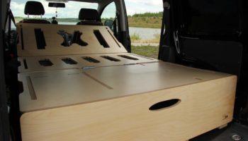 Ausgeklappte Campingbox von Biber Box