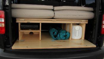 Stauraum der Campingbox Biber Box