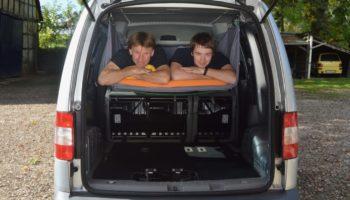 Bequemes Schlafen im Camper mit der Campingbox von Autohimmelbett