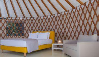 Unterkunft im Club Agia Anna Summer Resort einem familienfreundlichen Campingplatz in Europa