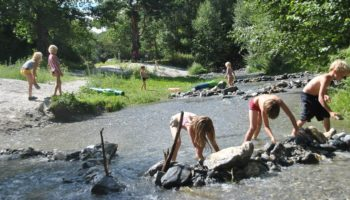Wasserspiele fuer Kinder auf dem kinderfreundlichen Camping Santa Monica