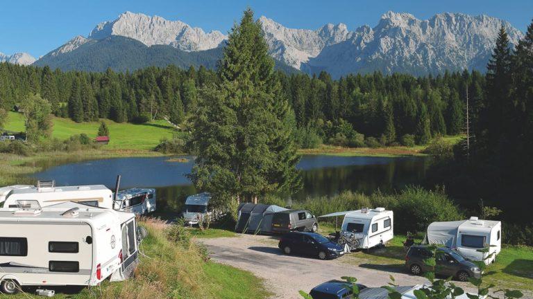 Alpen Caravanpark ein schöner Campingplatz am See in Deutschland