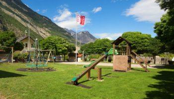 Spielplatz vom La Sarvaz Campingplatz