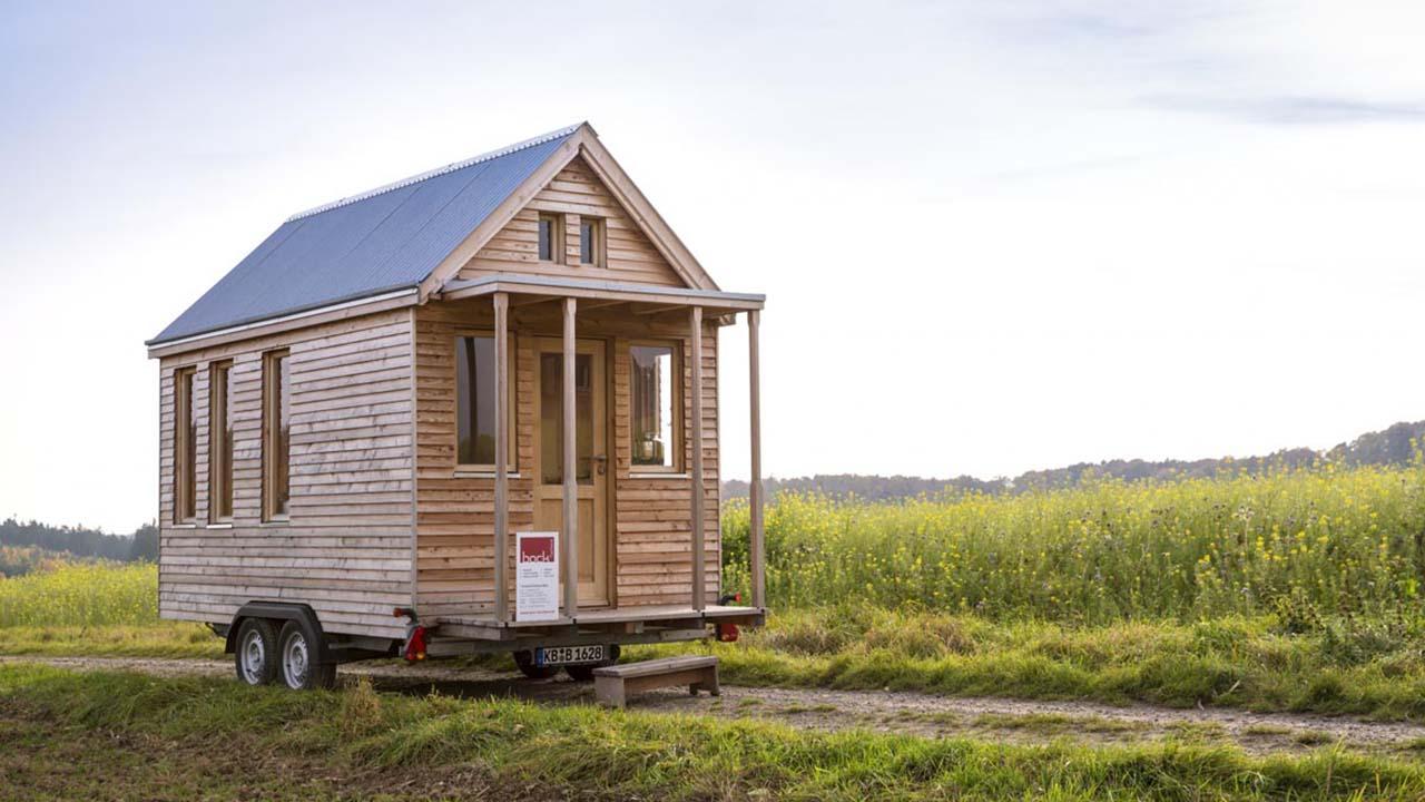 Das Tiny House von Tischlerei Bock von außen