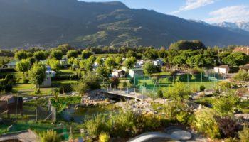 Blick auf den Camping La Sarvaz
