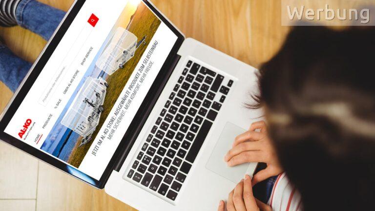 AL-KO Webshop auf dem Laptop