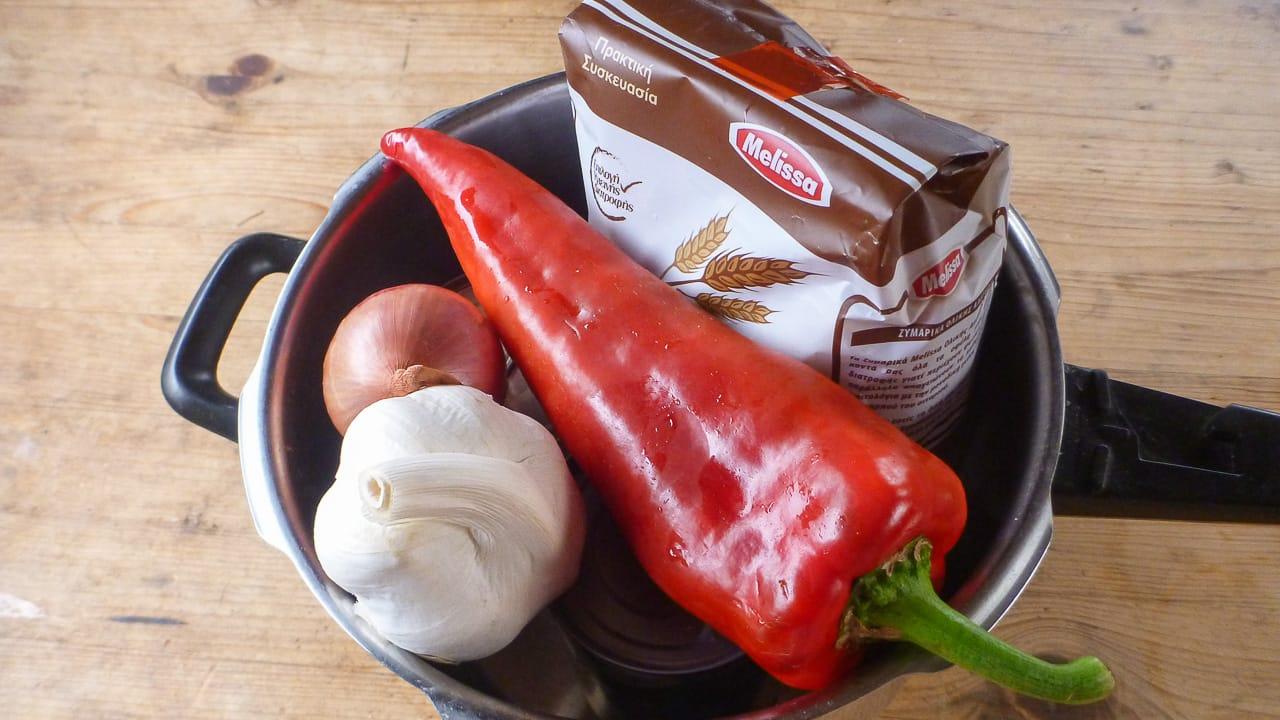 Zutaten One Pot Gemüse Nudeln