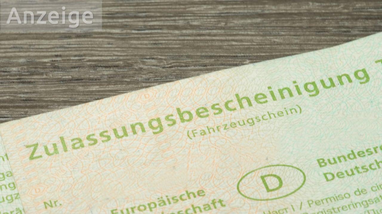 Fahrzeugschein Zulassungsbescheinigung