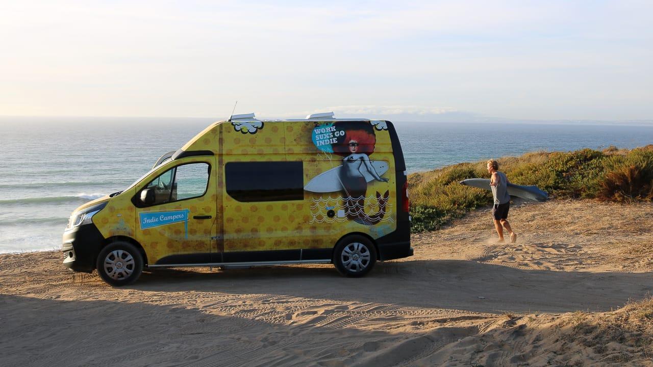Camping und Surfen in Portugal